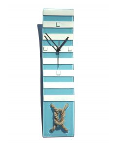Nautic világosblue wall clock 10x41 cm