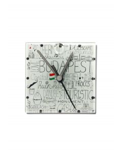 Hungary graphical wall clock 13x13 cm