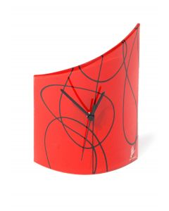 Geo red-black table clock 21x26 cm