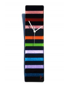 Rainbow black-rainbow wall clock 10x41 cm