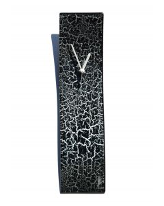 Crackled black wall clock 10x41 cm
