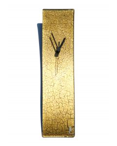Crackled gold wall clock 10x41 cm
