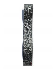 Crackled black wall clock 10x70 cm