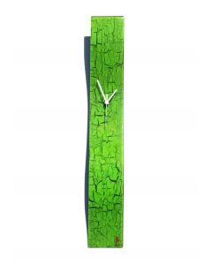 Crackled green wall clock 10x70 cm
