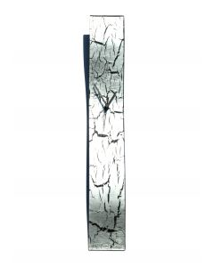 Crackled silver wall clock 10x70 cm