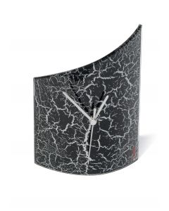 Crackled black table clock 21x26 cm