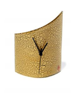 Crackled gold table clock 21x26 cm