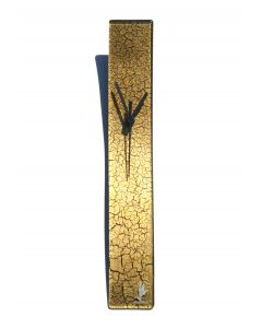 Crackled gold wall clock 6x41 cm