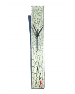 Crackled white wall clock 6x41 cm