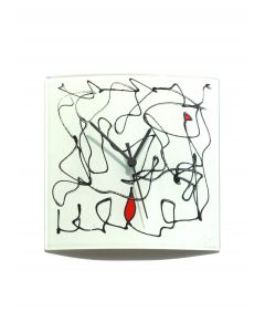 Miro white-black wall clock 24x24 cm