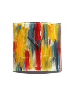 Amasonas yellow-blue wall clock 24x24 cm