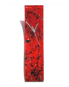 Splash red-white wall clock 10x41 cm