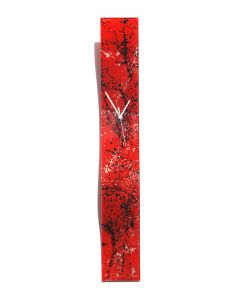 Splash red-white wall clock 10x70 cm