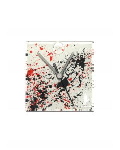 Splash white-black wall clock 13x13 cm