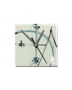 Geometry white wall clock 13x13 cm