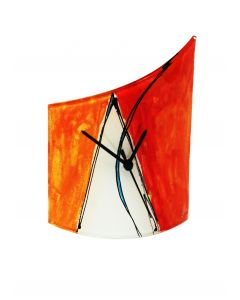 Geometry orange-white table clock 21x26