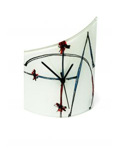 Geometry white table clock 21x26