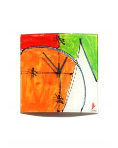Geometry red-green wall clock 24x24