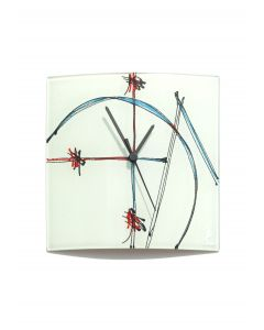 Geometry white wall clock 24x24 cm