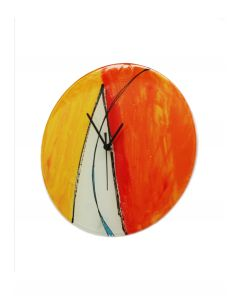 Geometry orange-white wall clock 32 cm