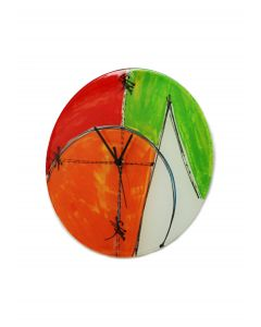 Geometry red-green wall clock 32 cm