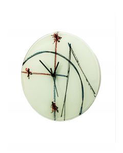 Geometry white wall clock 32 cm