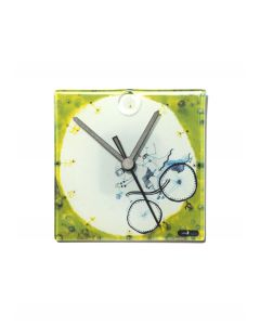 Graficity biker wall clock 13x13 cm