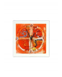Graficity kitty wall clock 26x26 cm