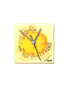 Graficity train wall clock 13x13 cm