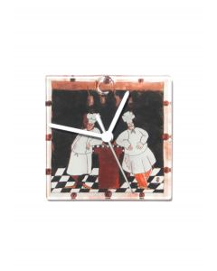 Graficity chef wall clock 13x13 cm