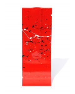 Splash red-black vase 14x36 cm