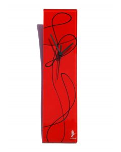 Geo red-black wall clock 10x41 cm