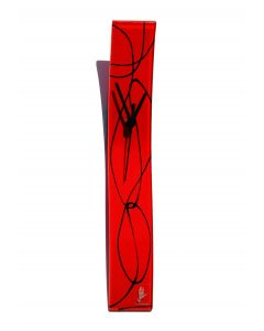 Geo red-black wall clock 6x41 cm