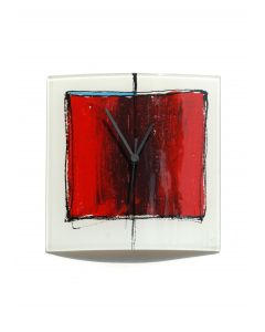 Cubie red-white wall clock 24x24 cm