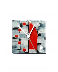 Dotti black-white wall clock 13x13 cm