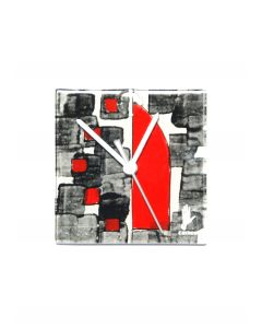 Dotti white-black wall clock 13x13 cm