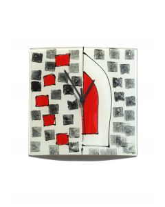 Dotti white-black wall clock 24x24 cm
