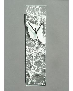 Natural transparent-white wall clock 10x41 cm
