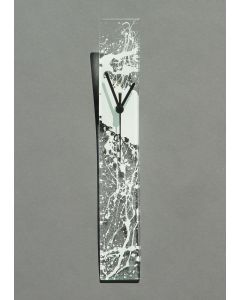 Natural transparent-white wall clock 6x41 cm