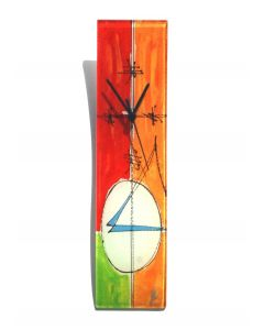 Geometry red-green wall clock 10x41 cm