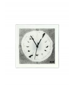 Graficity wine wall clock 26x26 cm