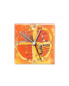 Graficity kitty wall clock 13x13 cm