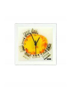 Graficity train wall clock 26x26 cm
