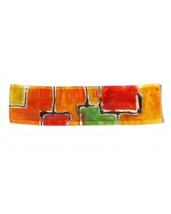 Mosaik red-orange plate 9x30 cm