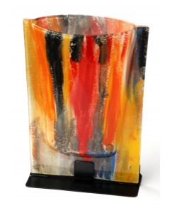 Amasonas yellow-blue vase 23x28 cm